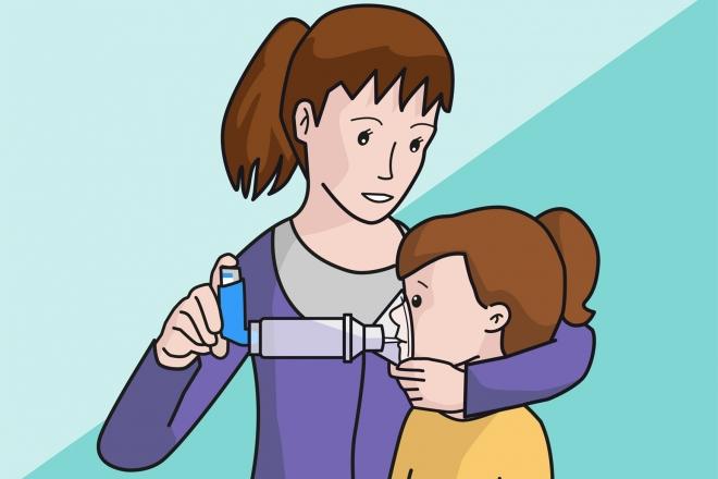 Administración de inhalador con cámara