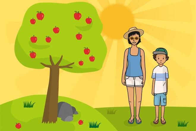 Escena que representa el verano