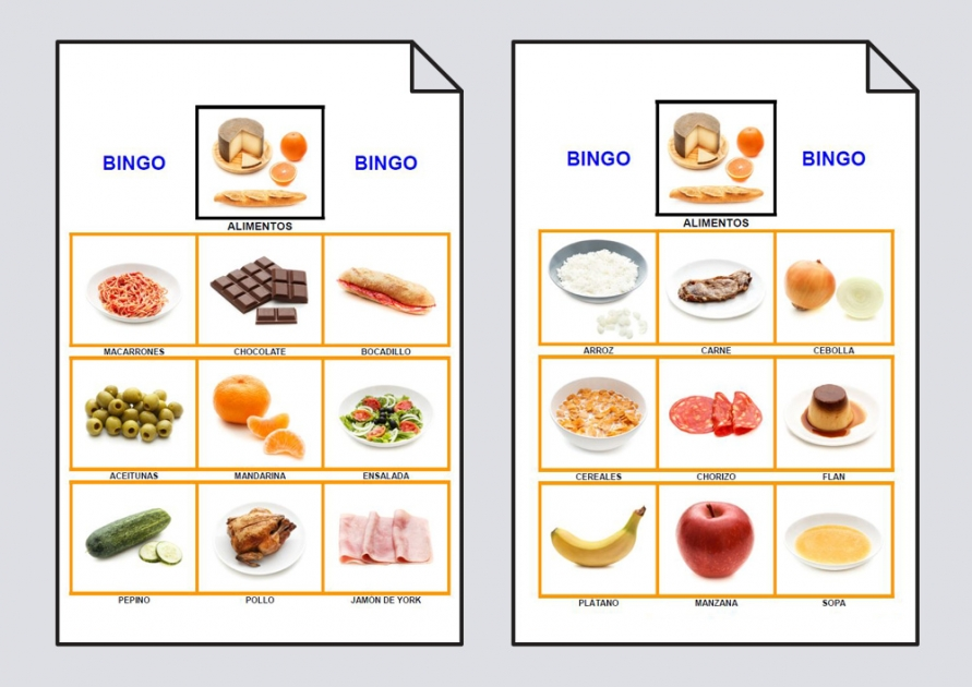 Bingo De Los Alimentos: Bingo #Soyvisual