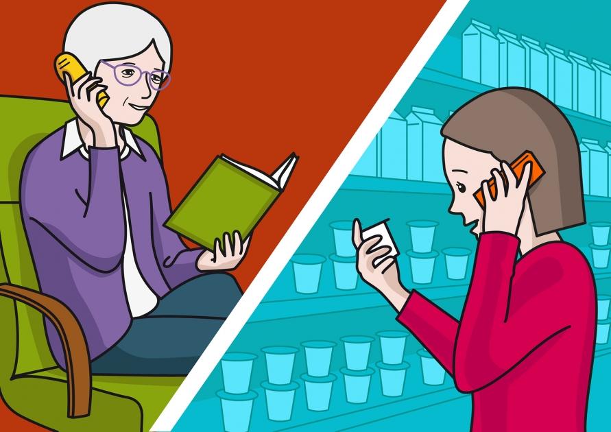 Bebe Hablando Por Telefono: La Mamá Habla Por Teléfono Con La Abuela #Soyvisual